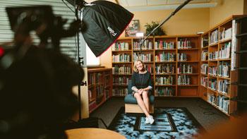 Zdjęcia z wywiadu z Psychologiem w celach promocji gabinetu