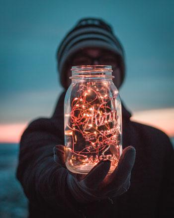 Lampki w słoiku