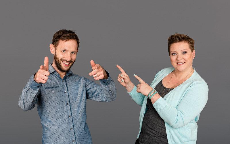 Agnieszka Gajewska i Szymon Gajewski na szkoleniu nt. Instagram w marketingu gabinetu psychoterapeutycznego