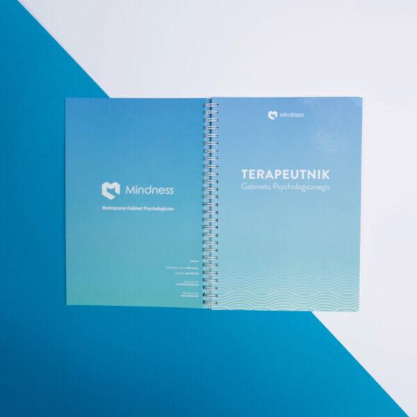 Okładka planera dla psychologów i psychoterapeutów - Terapeutnika